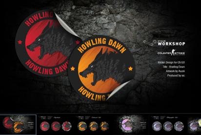 Old Howling Dawn Sticker CSGO